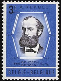 kekule-benzene-stamp